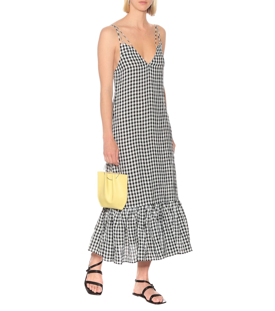 Exclusive to Mytheresa - Stacey gingham midi slip dress by Khaite