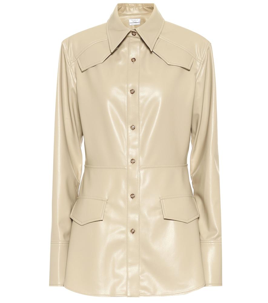 Sierra faux leather blazer