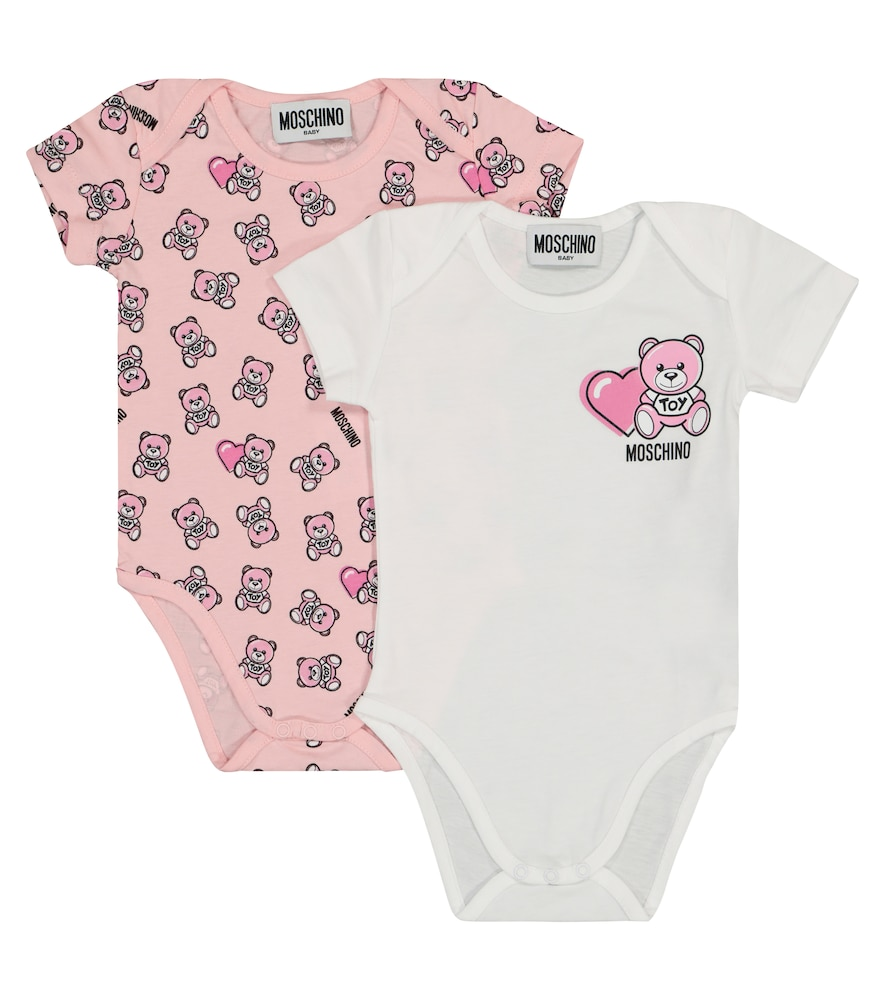 Moschino BABY SET OF TWO COTTON BODYSUITS