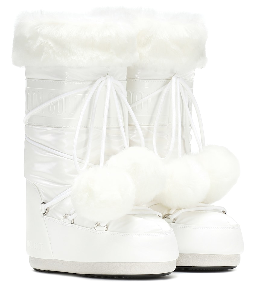 Exclusive To Mytheresa - Classic Pom Pom Ankle Boots in White