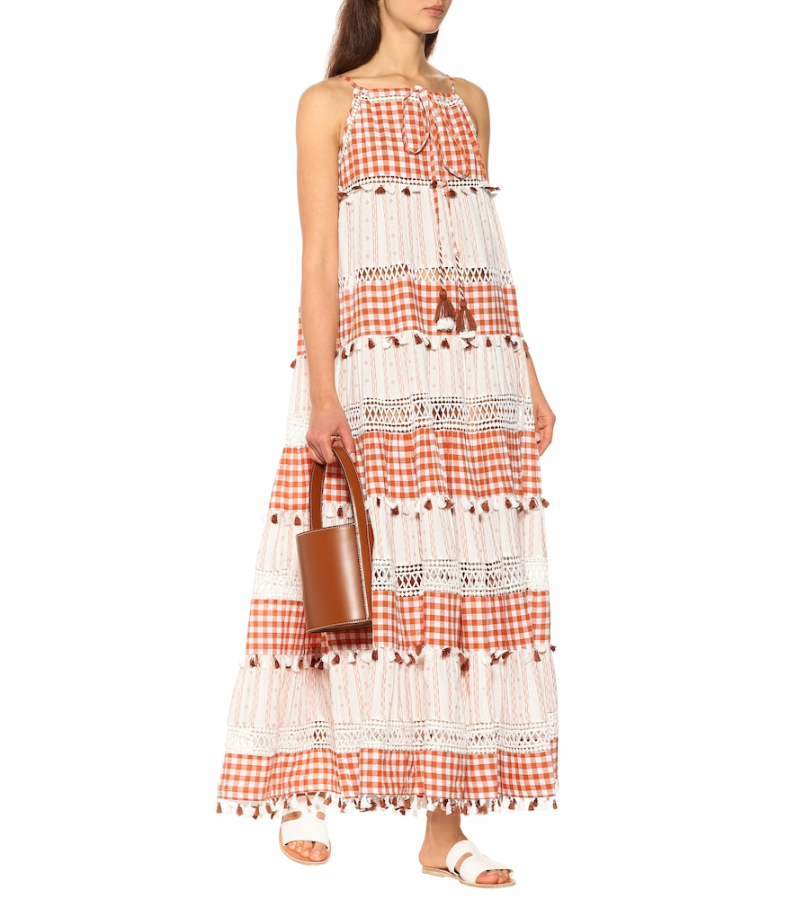 Tiered cotton maxi dress by Dodo Bar Or