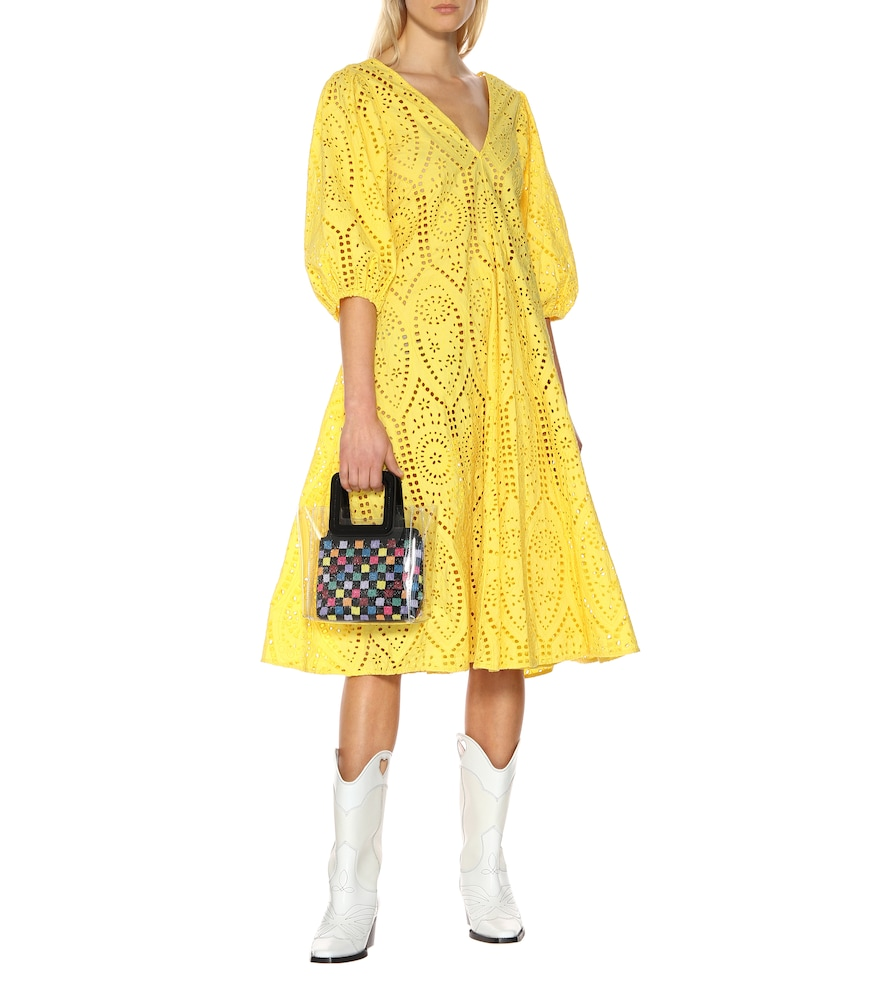 Exclusive to Mytheresa - Cotton broderie anglaise dress by Ganni