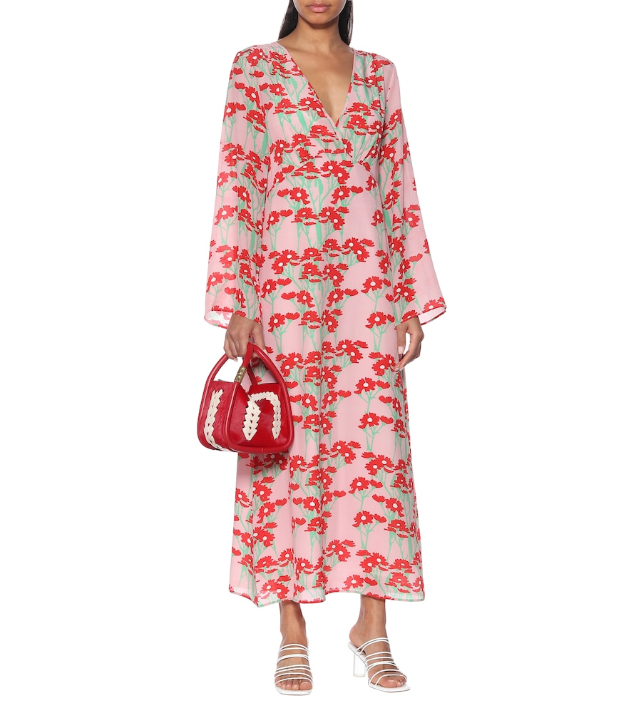Sarah floral silk maxi dress by Bernadette