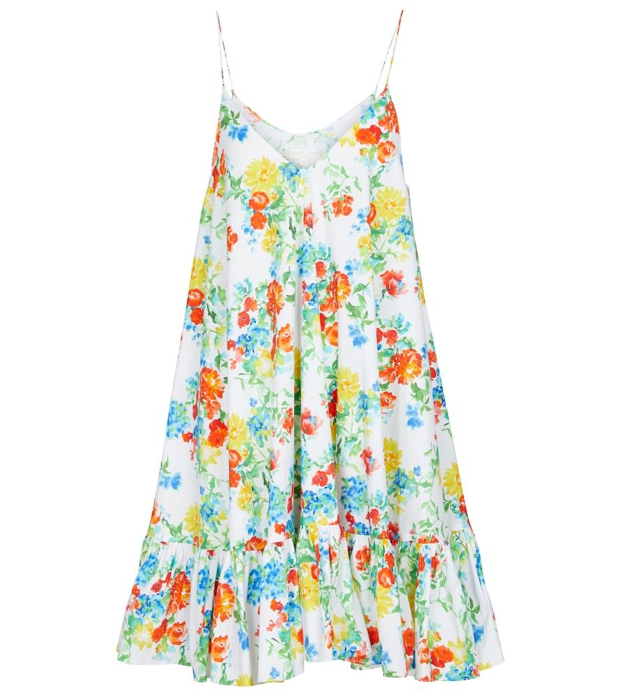 Laurel floral cotton-blend minidress