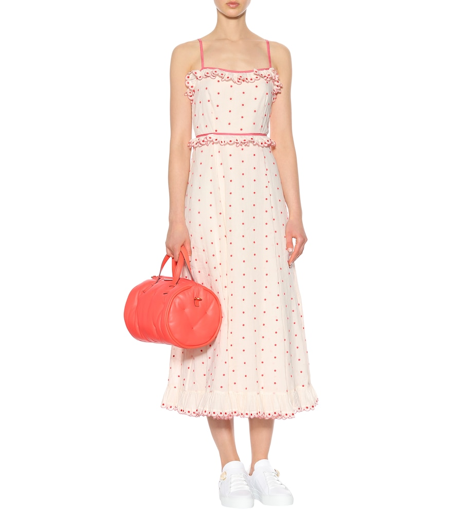 Polka-dotted cotton dress by REDValentino