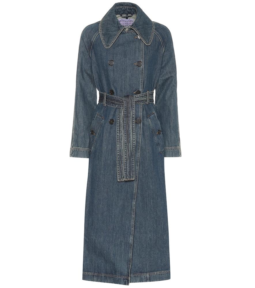 Blue Denim Trench Coat