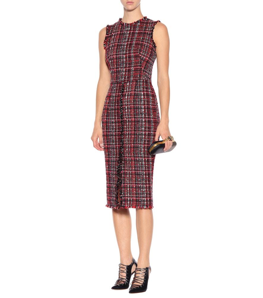 Tweed midi dress by Alexander McQueen