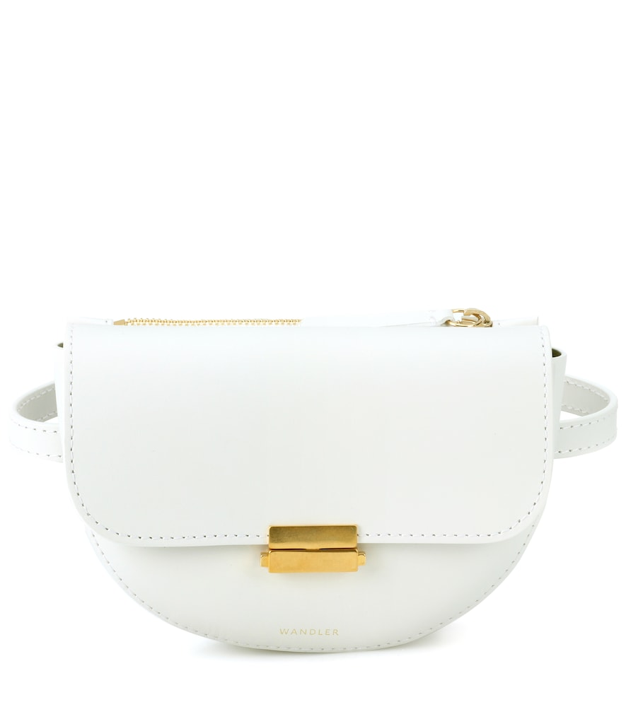 Anna Leather Belt Bag, Size Os, Women, White, Female