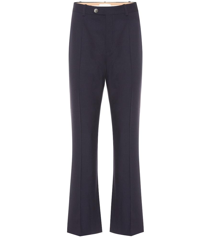 Pantalon en laine mélangée - Chloé - Modalova