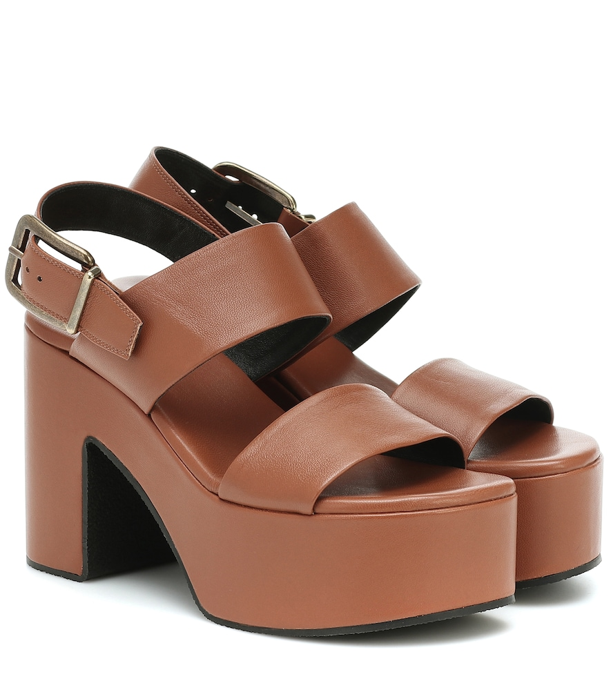 Sandales à plateau en cuir - Dries Van Noten - Modalova