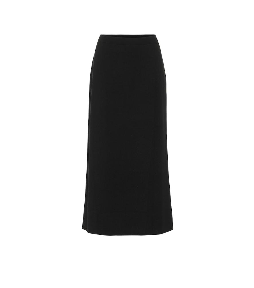 Virgin wool midi skirt
