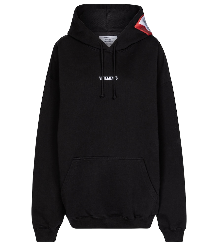 Vetements LOGO OVERSIZED COTTON-BLEND HOODIE