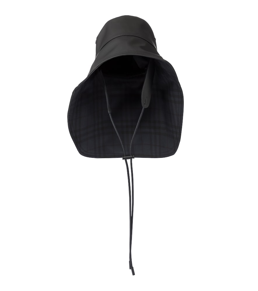 Burberry RUBBERIZED COTTON-BLEND HAT