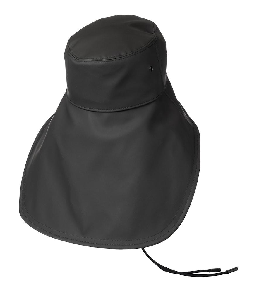 BURBERRY Hats RUBBERIZED COTTON-BLEND HAT