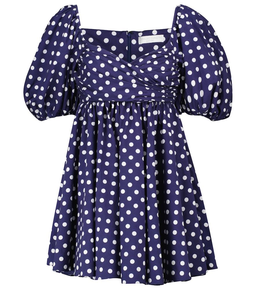 Brie polka-dot cotton-blend minidress