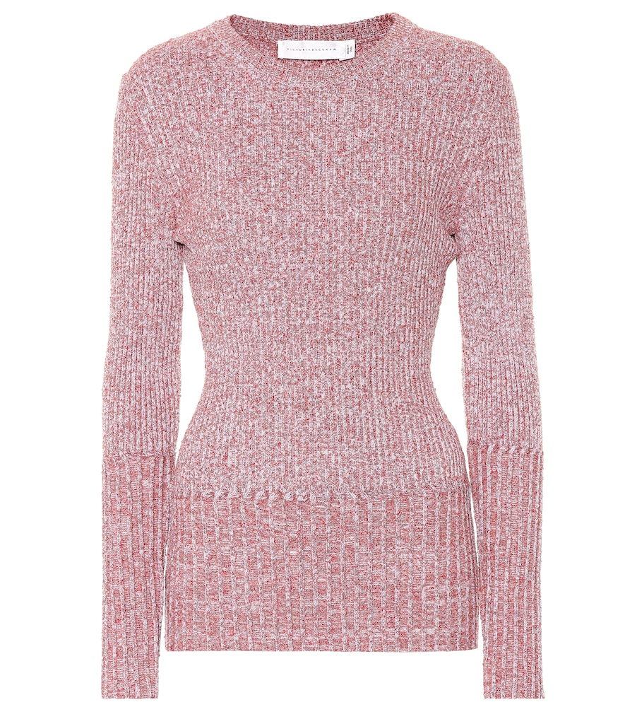 VICTORIA BECKHAM RIBBED WOOL-BLEND SWEATER