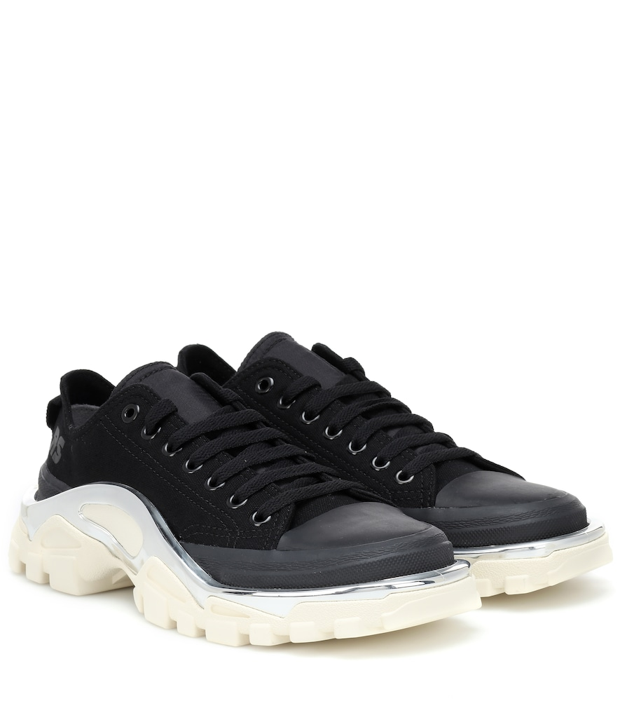 ADIDAS BY RAF SIMONS Detroit Runner Low-Top Trainers, Black