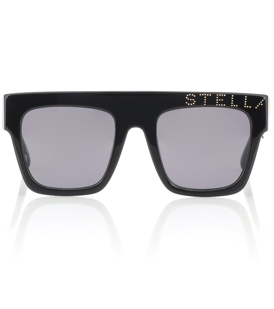 d2a8b640b0 Stella Mccartney Embellished Square Sunglasses In Black