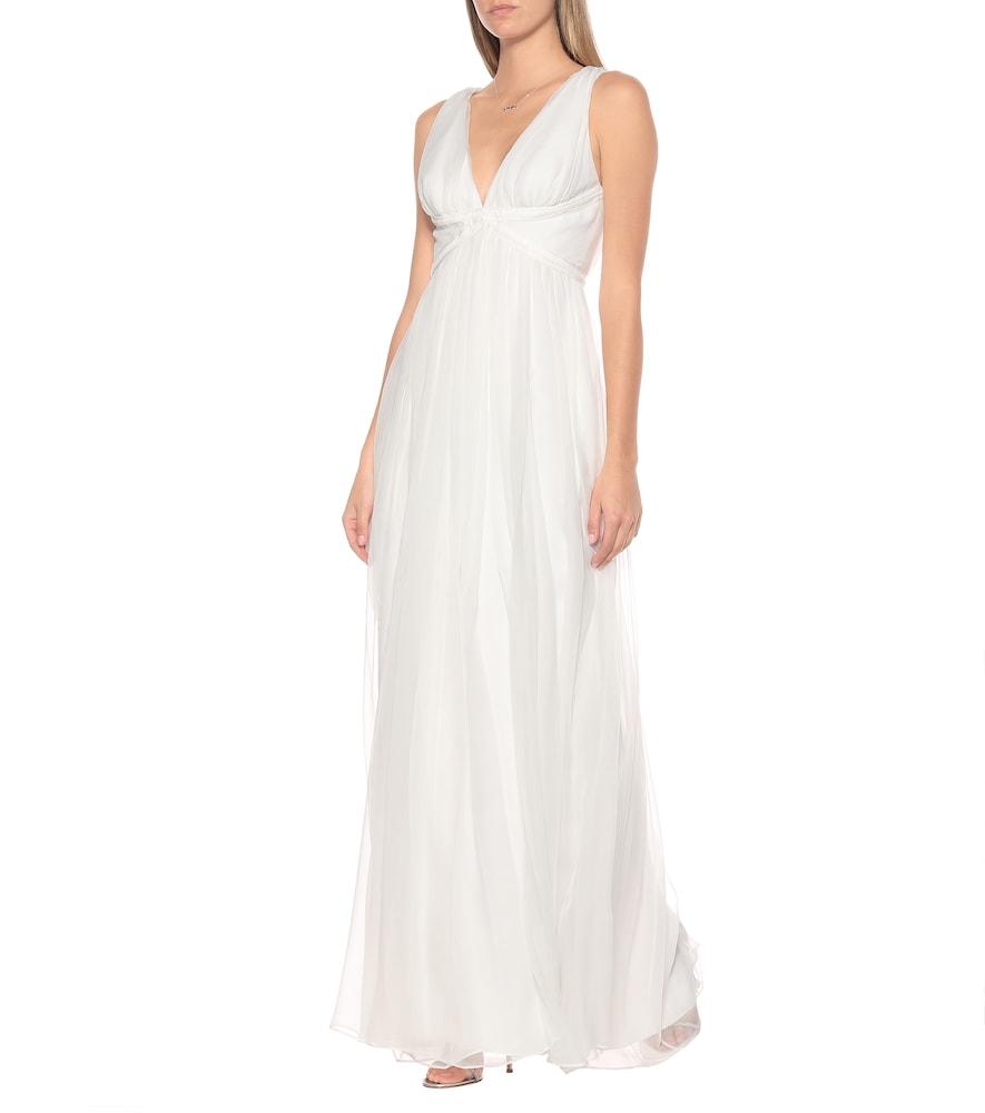 Klausen silk-chiffon bridal gown by Max Mara