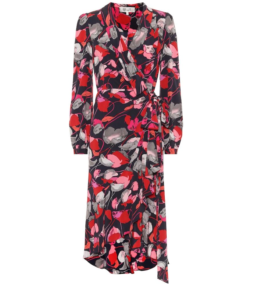 Carla Two silk-cr?e wrap dress by Diane von Furstenberg