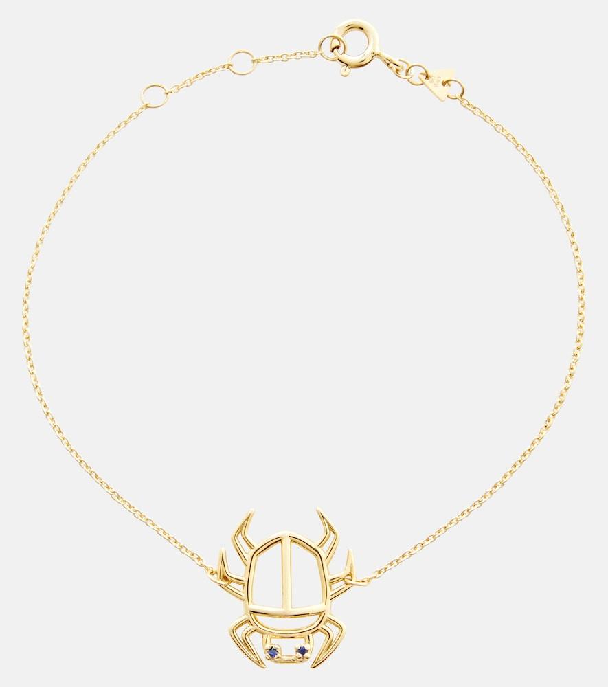 Escarabjo Zafiro 9kt gold bracelet with sapphires