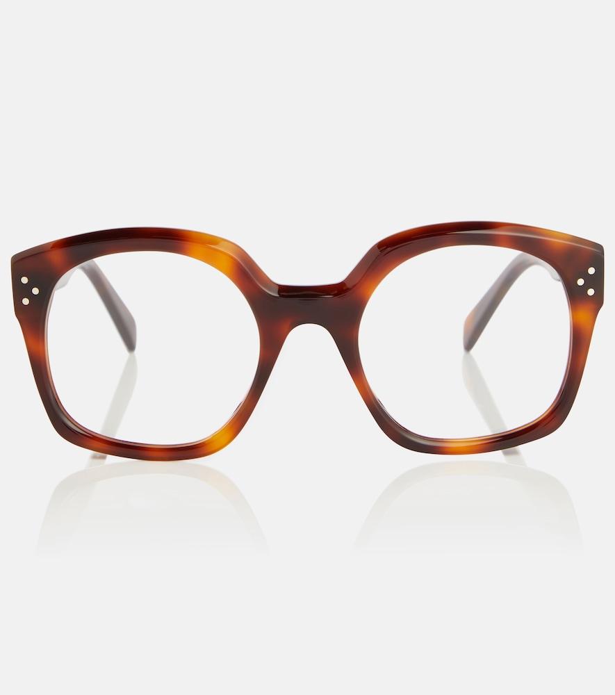 D-frame acetate glasses