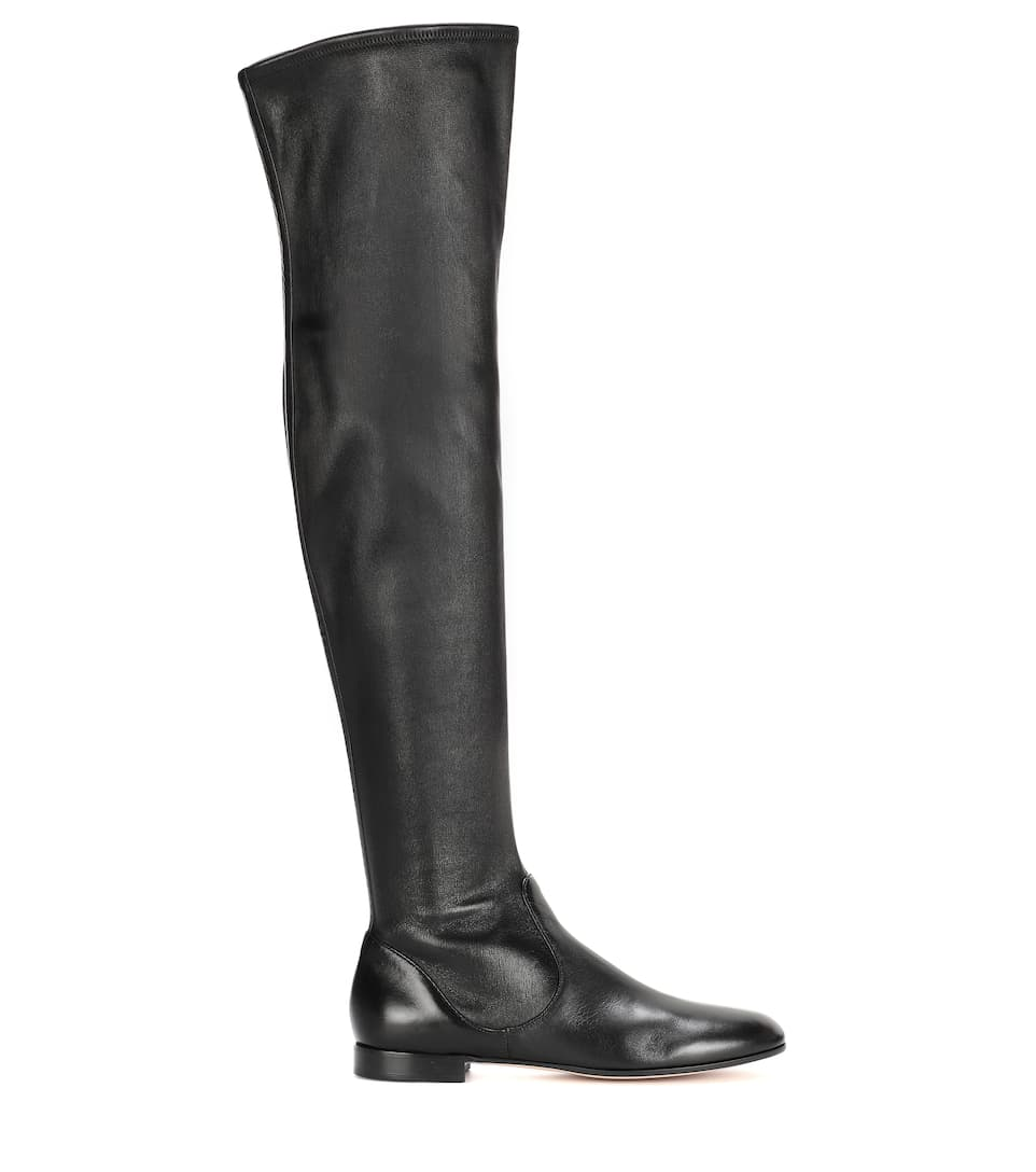 Gianvito Rossi Over-the-knee leather boots