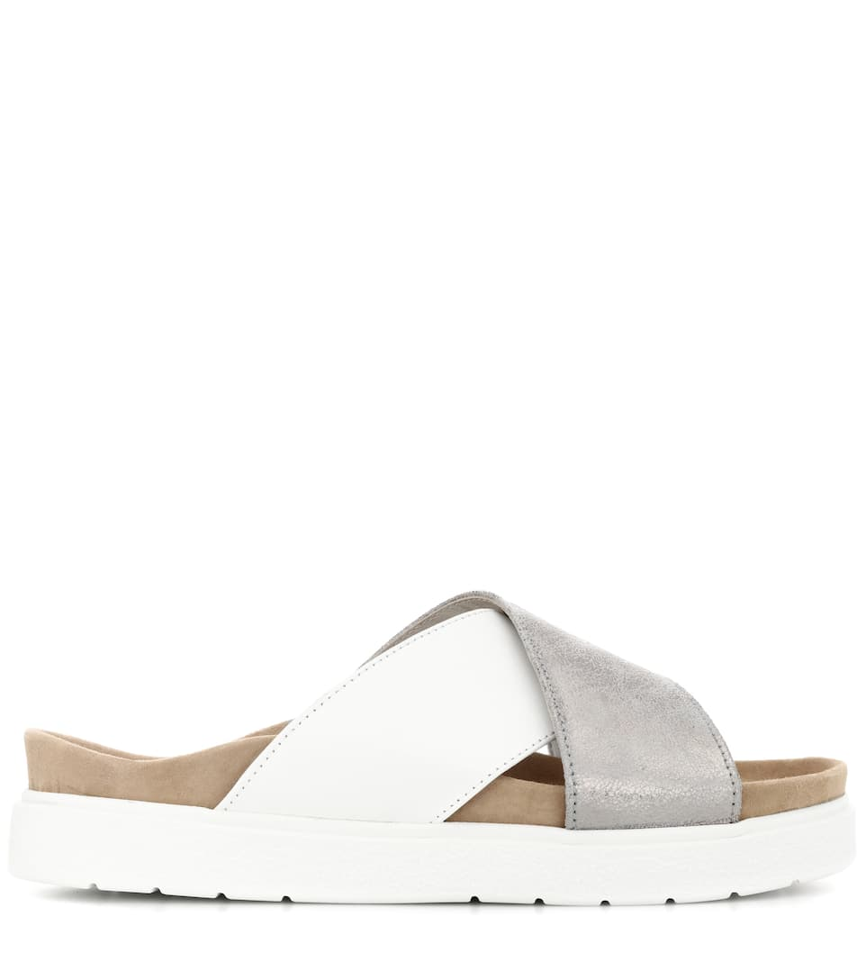 Leather slide sandals INUIKII YVgq9BF8t