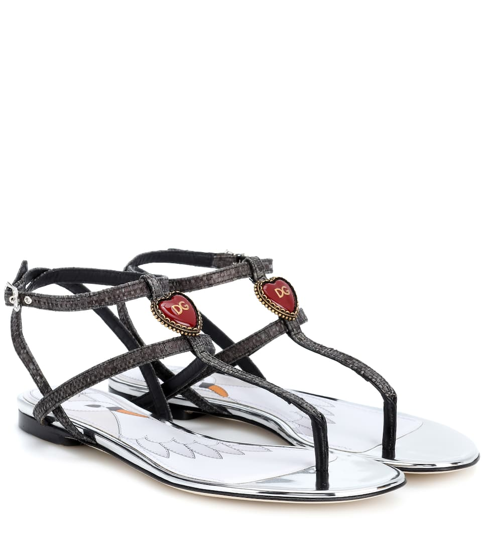 Tropea Mirror Sandals in Black
