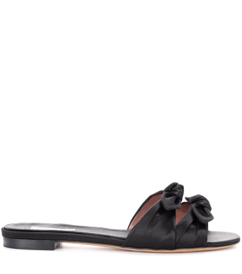 Tabitha Simmons Slippers Cleo aus Satin