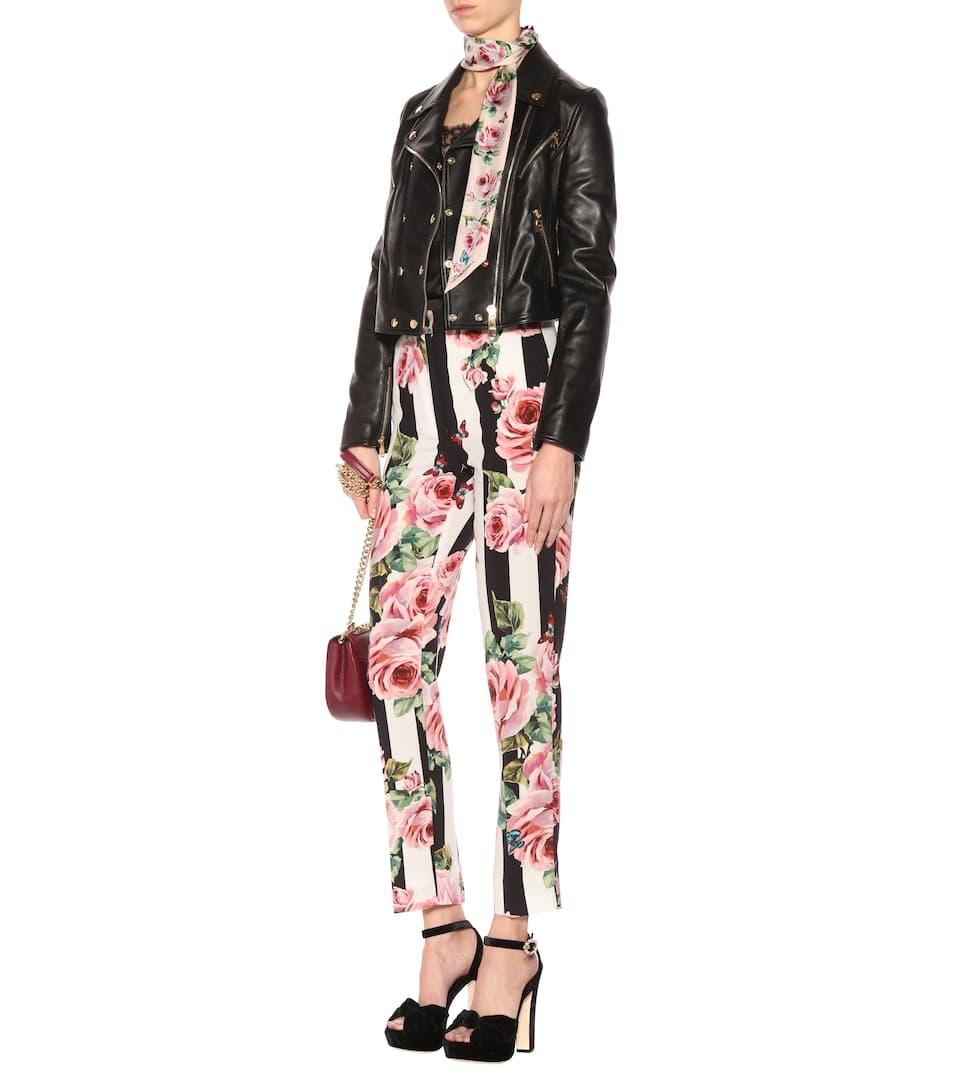 Dolce & Gabbana Bedruckte Hose mit Streifen