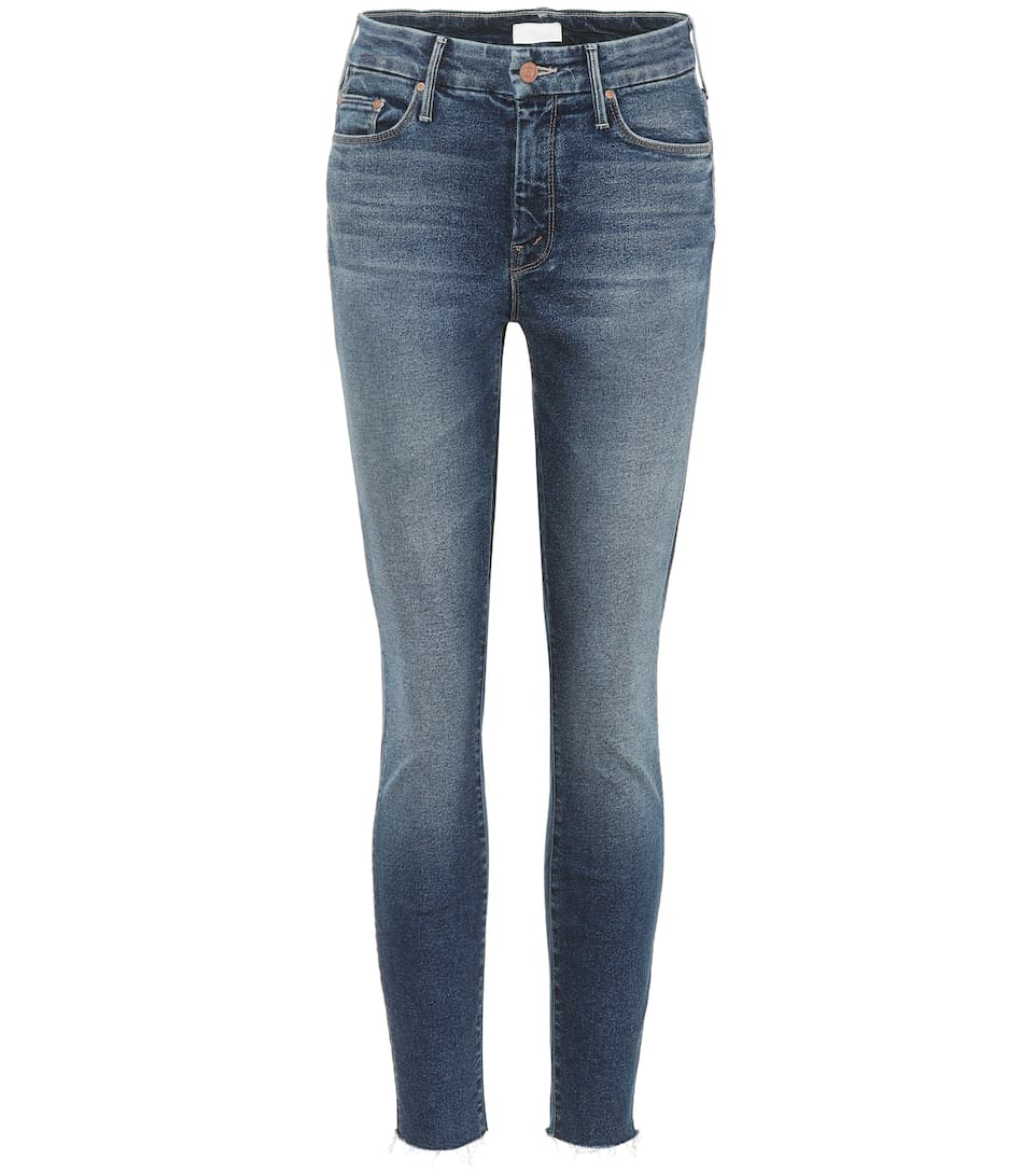 Mother Cropped Jeans The Looker Ankle Fray