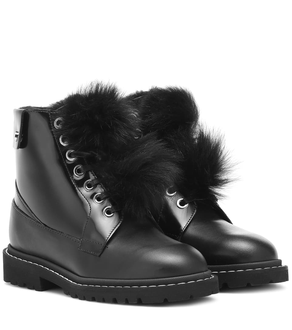 b05f2f421c48 The Voyager Snow Flat Ankle Boots - Jimmy Choo