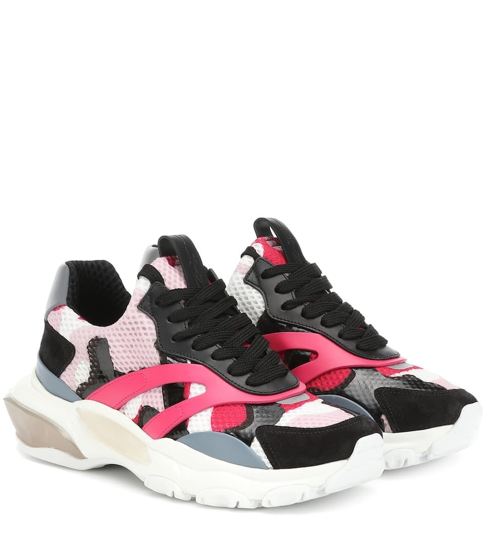 d5faf78f08228 Valentino - Valentino Garavani Bounce mesh sneakers | Mytheresa