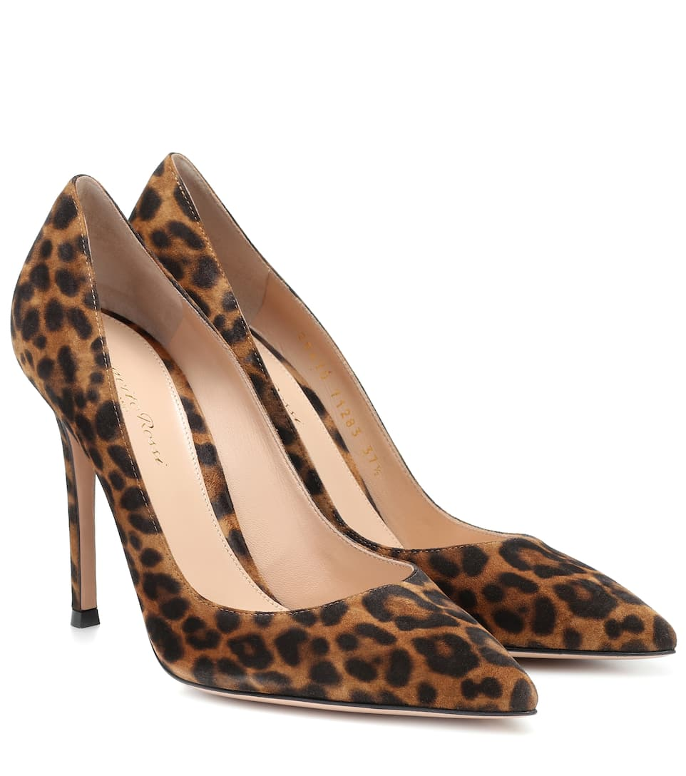 Gianvito Rossi Womens Leather Suede Pumps Sneakers Shoes
