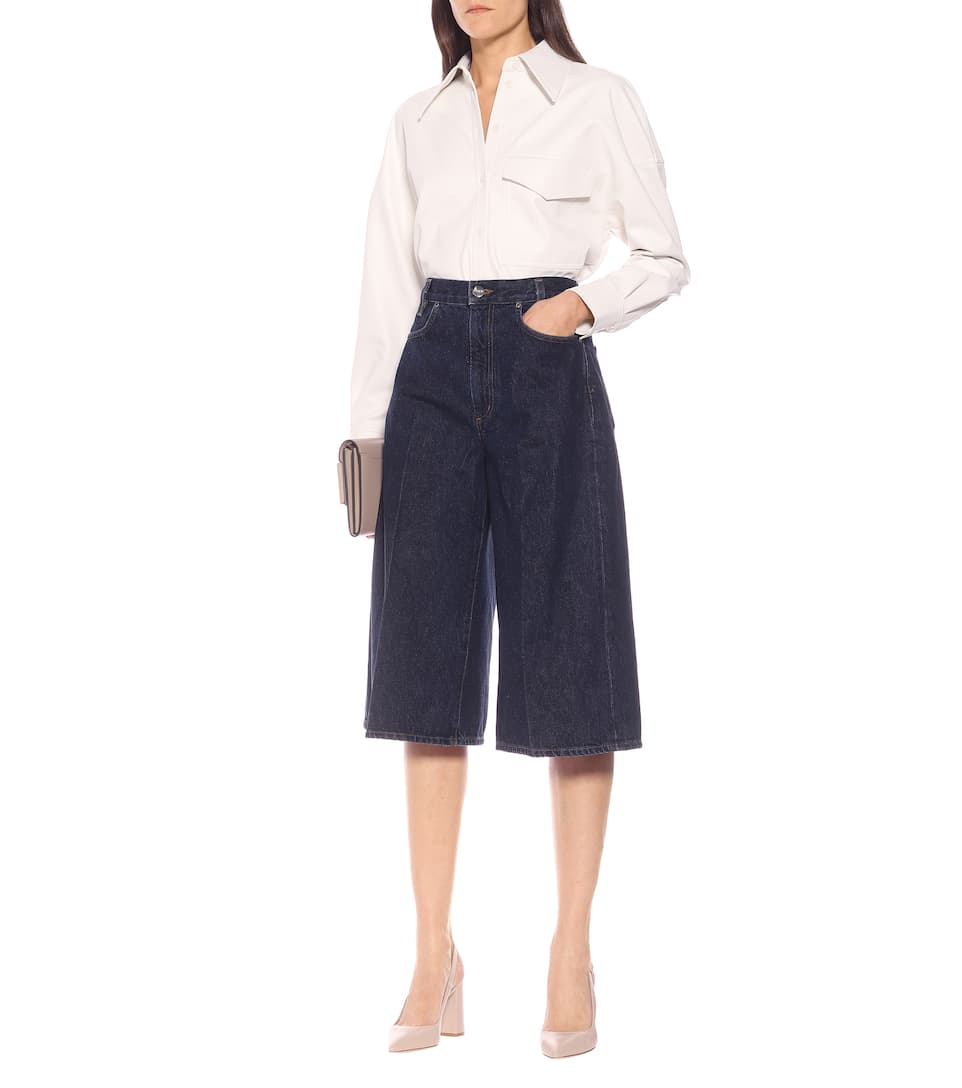 Goldsign - Covell high-rise denim culottes