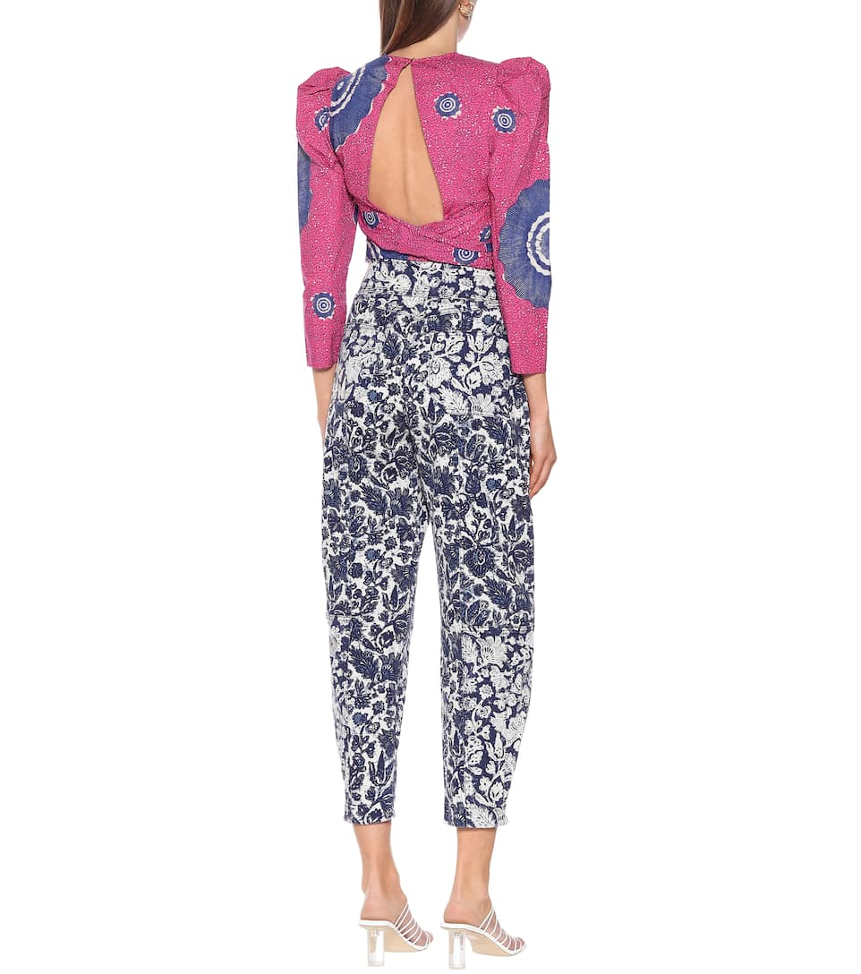 Ulla Johnson - Storm floral high-rise carrot jeans