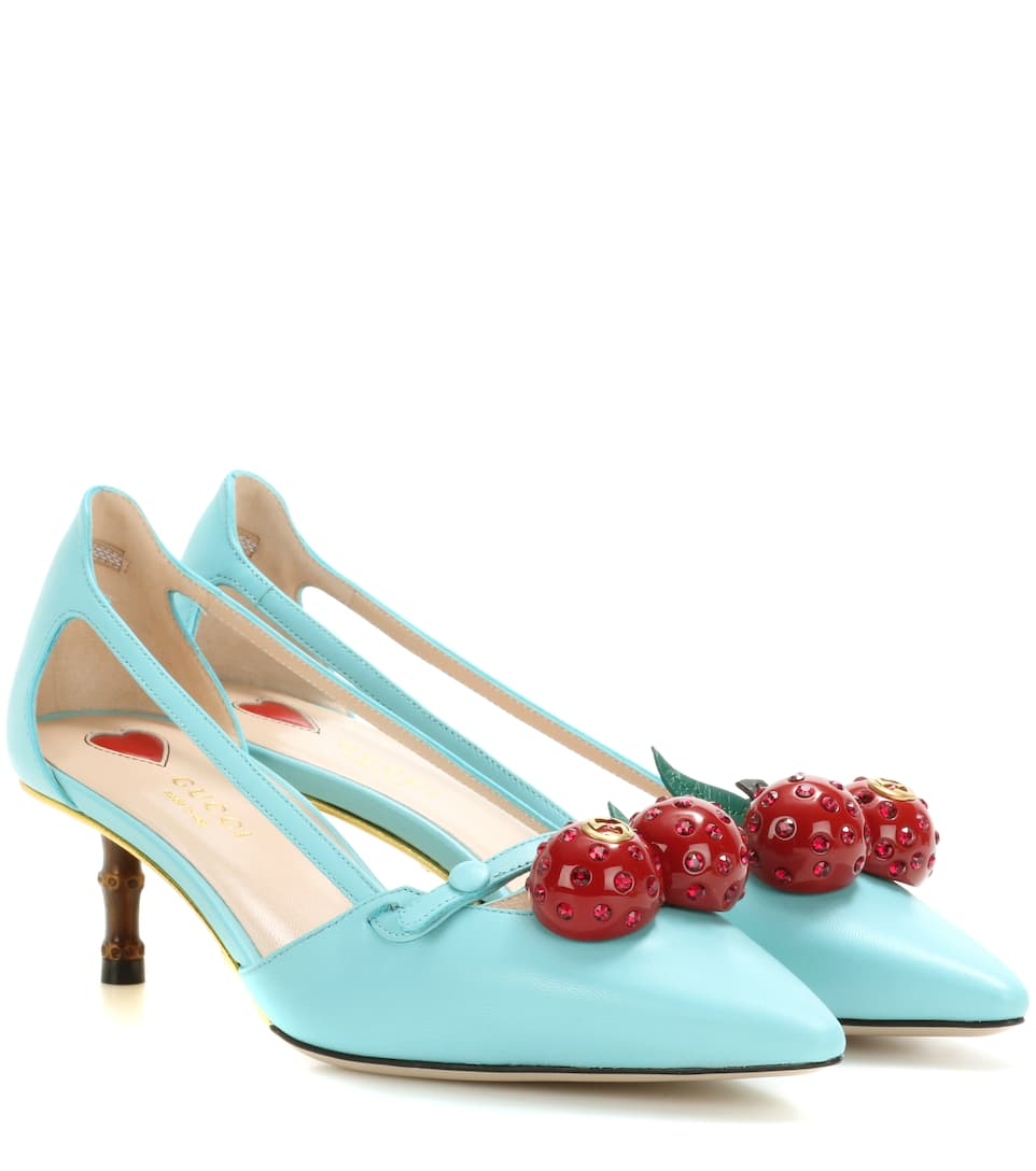 Cherry patent leather pumps Gucci Sajan04