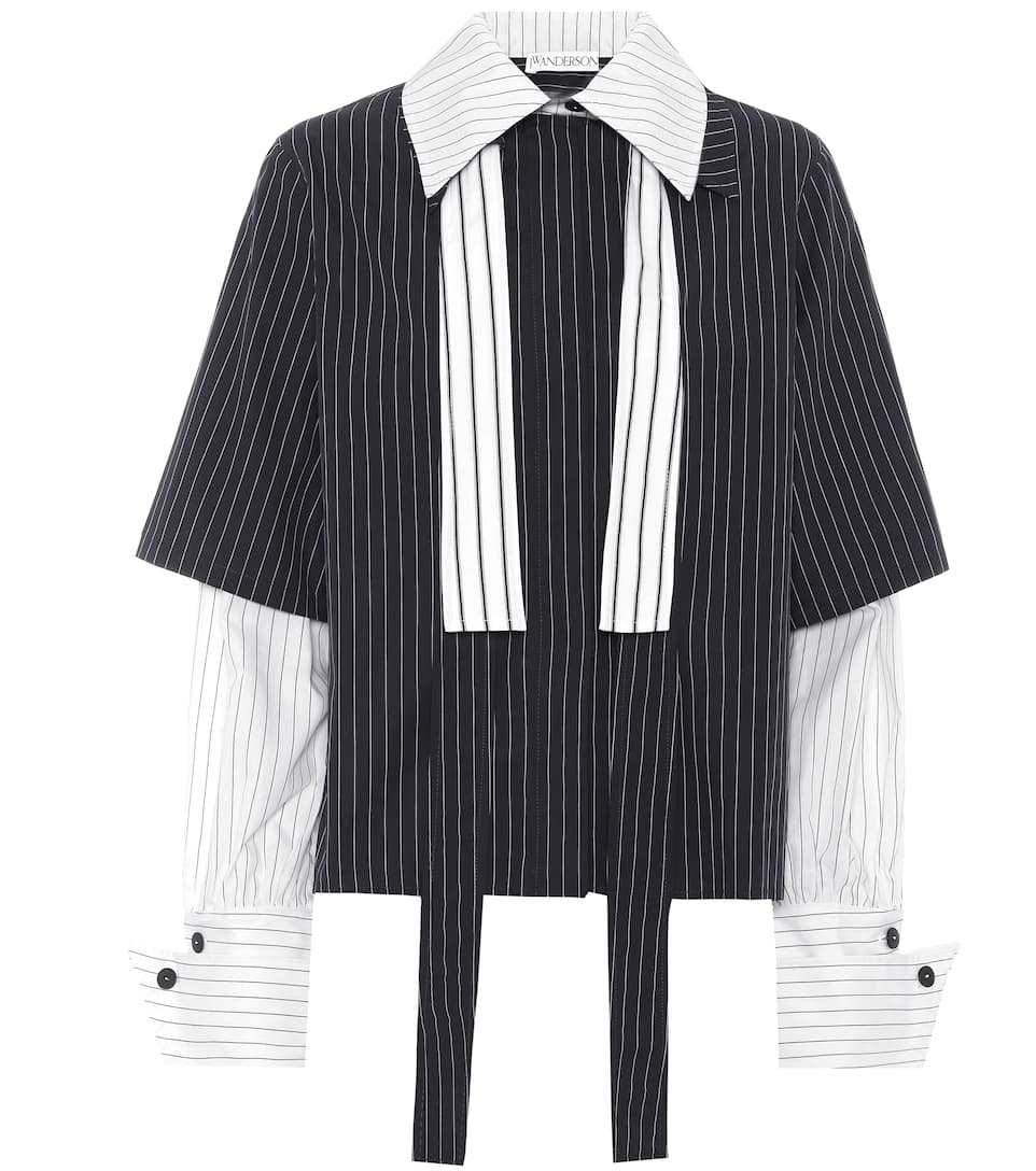 Jw Anderson Striped Top From Cotton
