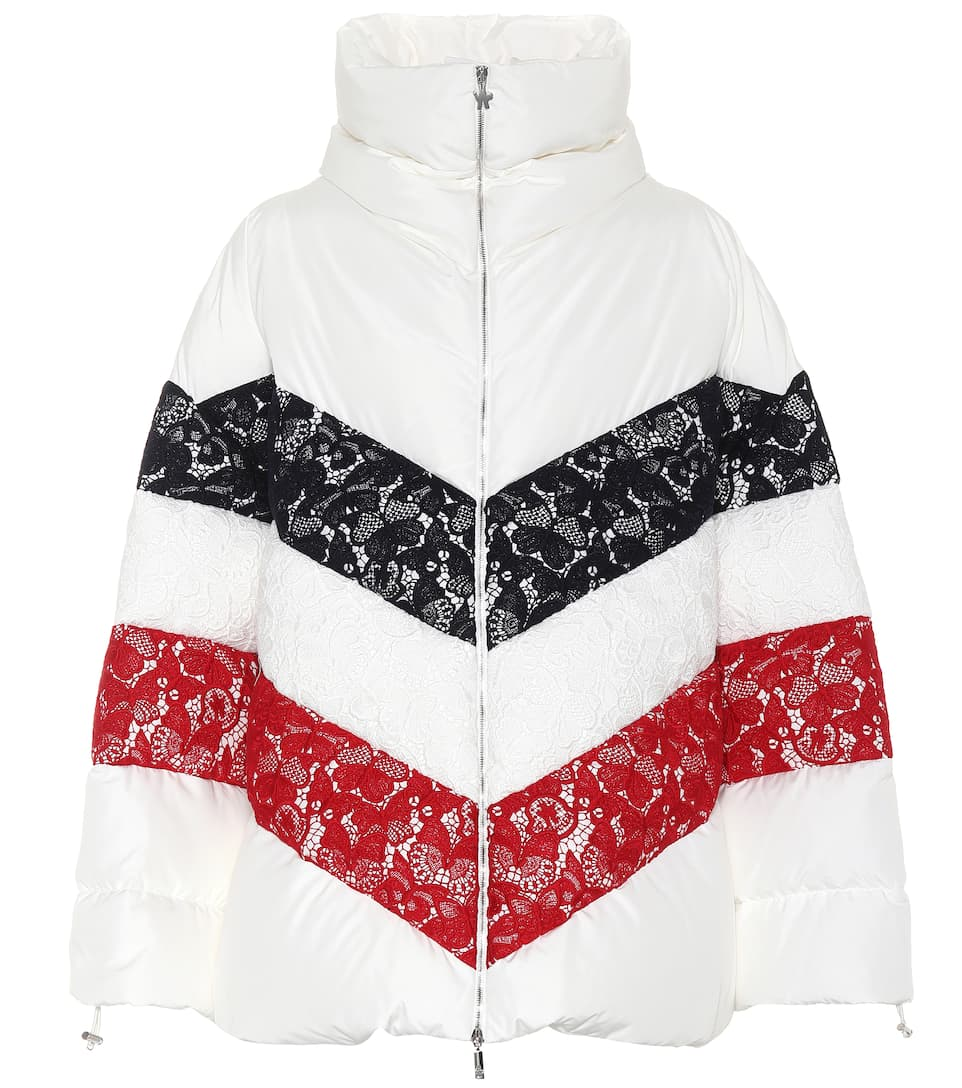 Oversized Lace Trimmed Down Jacket by Moncler