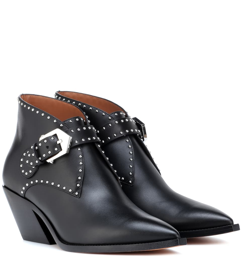 ec4ae6d46167 Studded Leather Ankle Boots