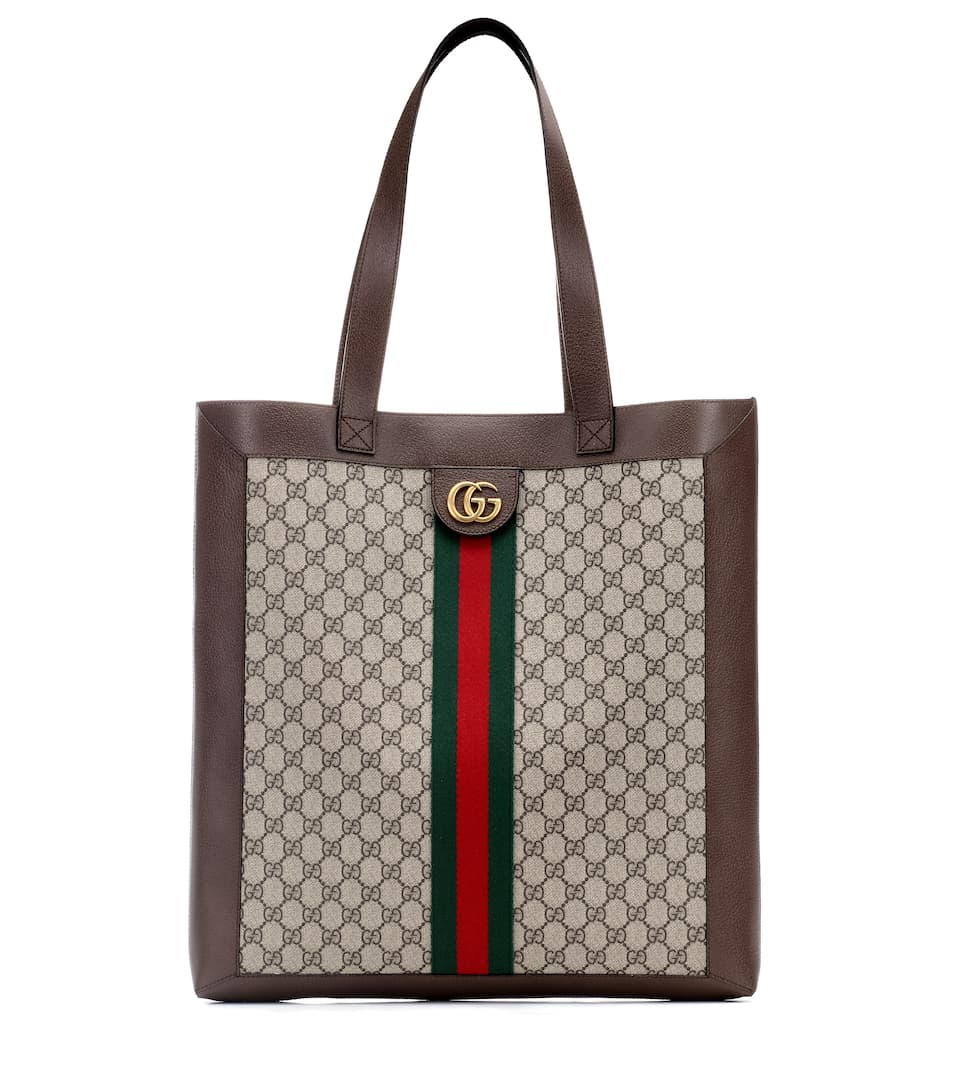 62b9ff2cb93a GUCCI Ophidia Gg Leather-Trimmed Printed Coated-Canvas Tote