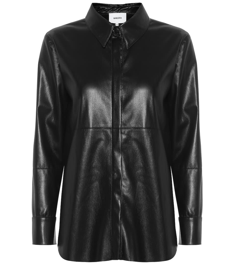 d9424aab00f8ab Nanushka - Naum faux leather shirt | Mytheresa