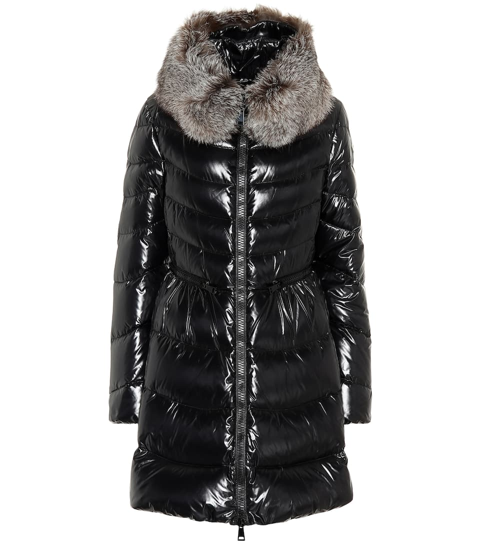 f322122fb820 Moncler - Mirielon fur-trimmed down coat   Mytheresa