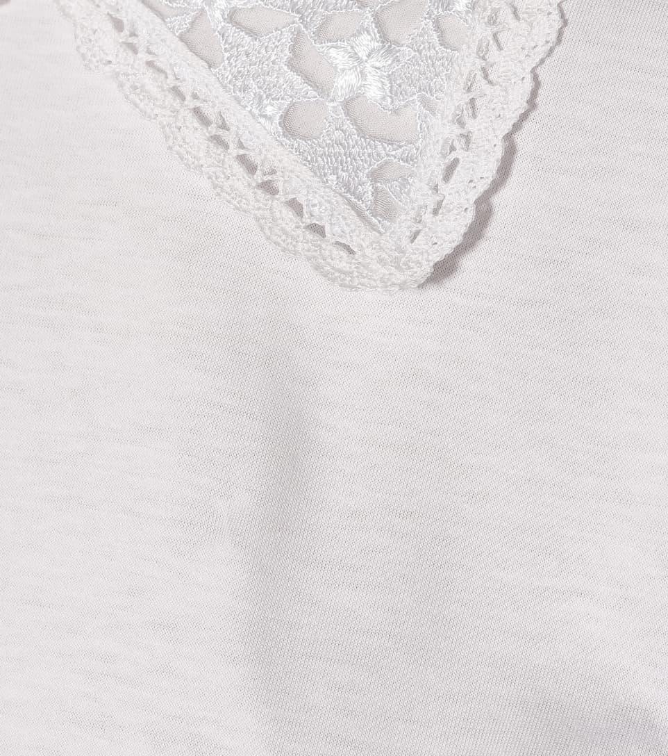 Miu Ornements En T Jersey À De Coton shirt mON0wyv8n