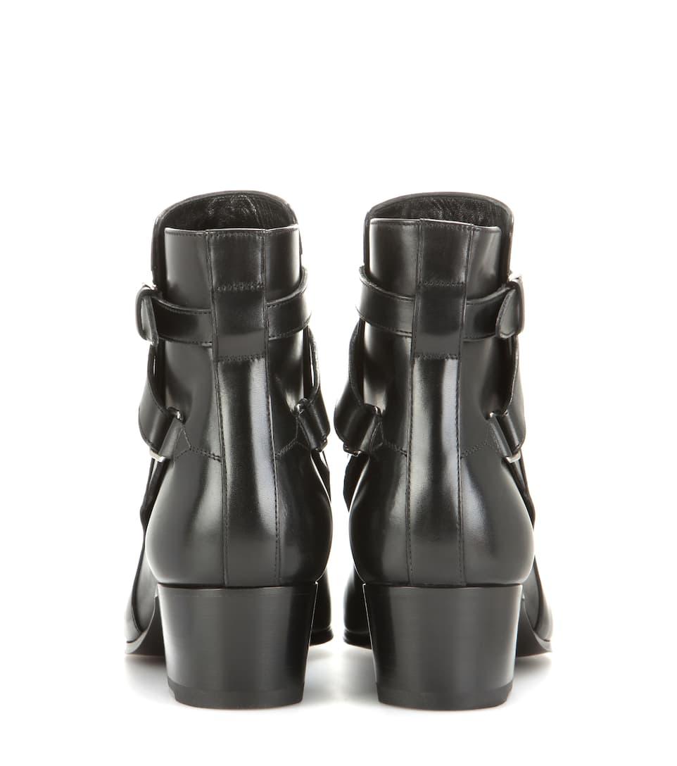 Saint Laurent Ankle Boots Blake 40 aus Leder