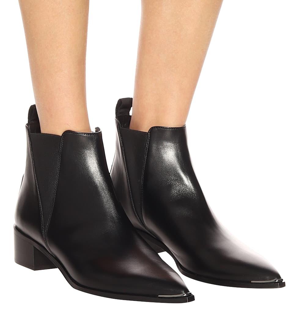 jensen leather ankle boots acne studios. Black Bedroom Furniture Sets. Home Design Ideas