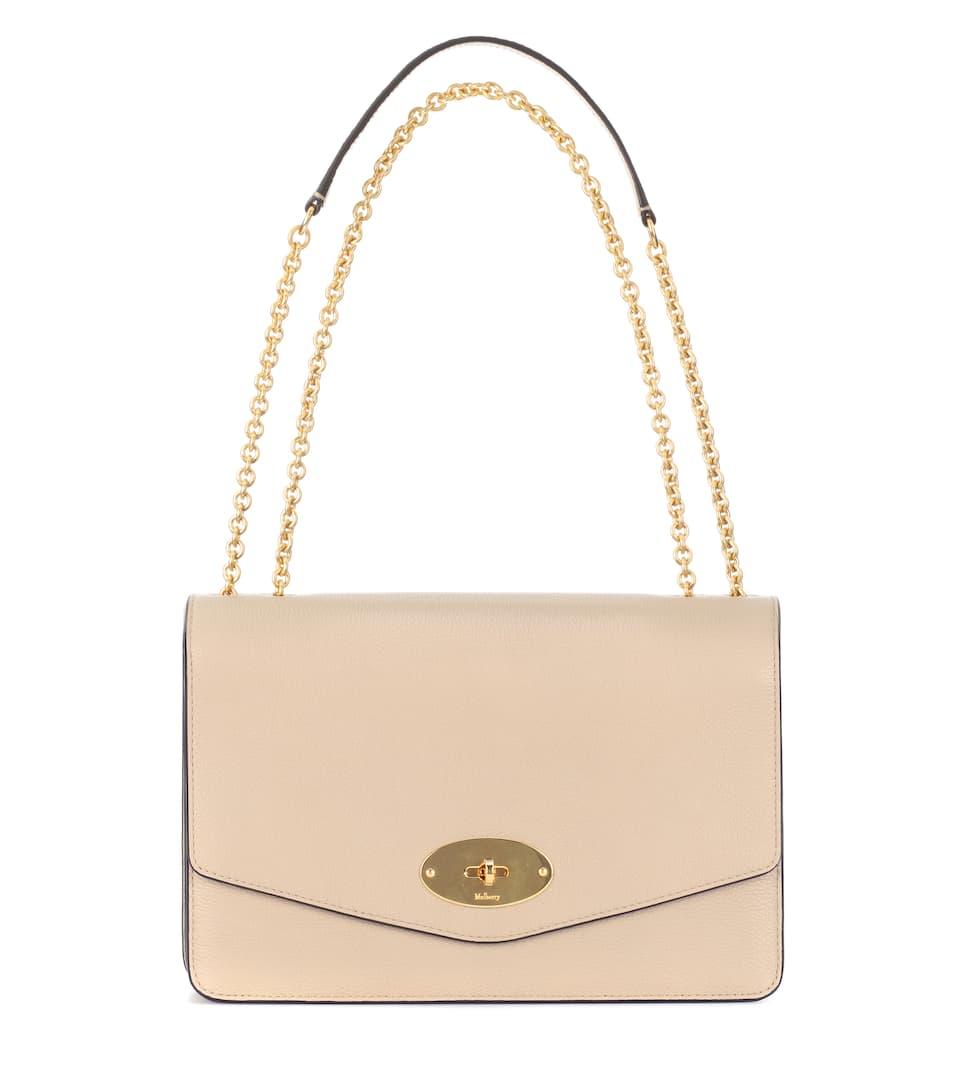 Large Darley Leather Shoulder Bag - Mulberry