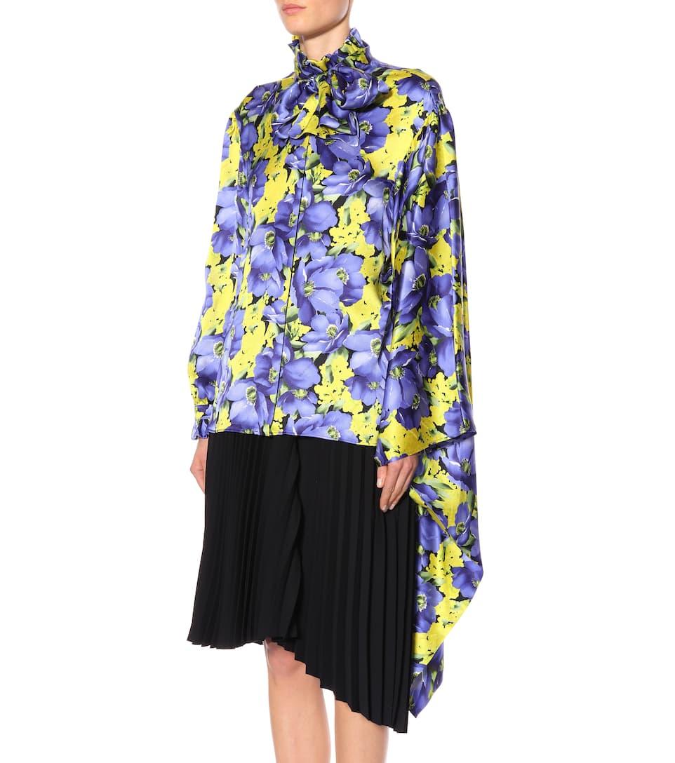 Balenciaga Bedruckte Bluse aus Seide