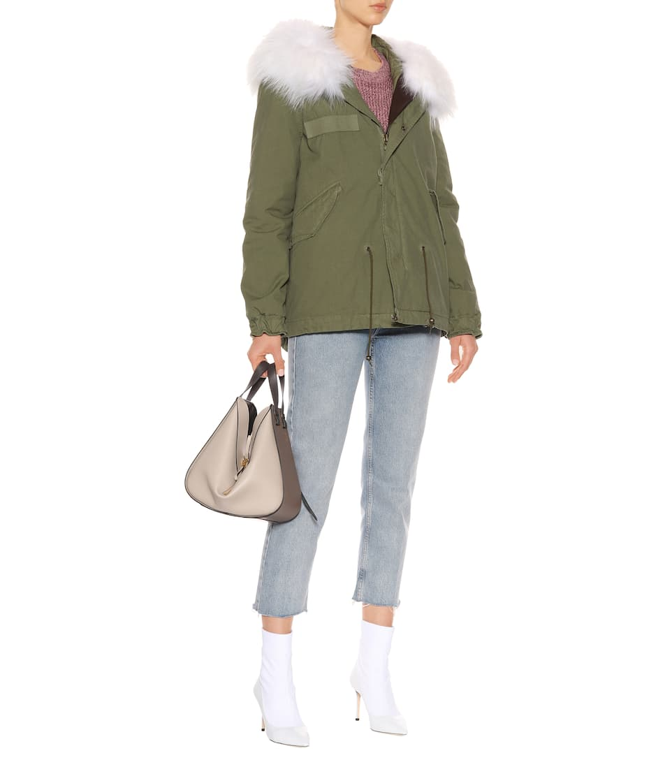 Mr & Mrs Italy Fur-trimmed cotton parka White Excellent For Sale mRCP5wUIY